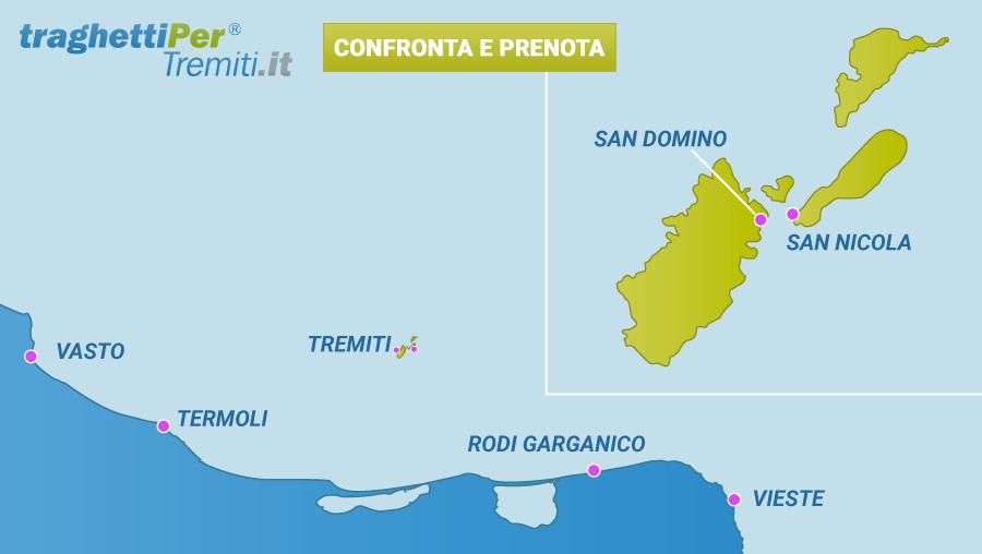 Prenota traghetti per le isole tremiti