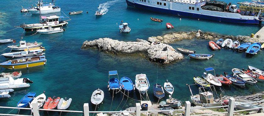 il porto delle isole Tremiti